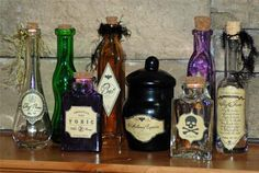 I've always love the word apothecary and I've always loved pretty bottles.  This is a cute Halloween idea.  the site even has a printout for the labels.  #Halloween #bottle_labels