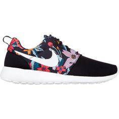 Nike Women's Nike Roshe Run Print ($74) ❤ liked on Polyvore featuring shoes, women, nike footwear, patterned shoes, synthetic shoes, print shoes and nike