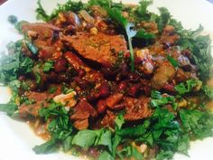 Beef and Black Bean Stew with Herbs and Walnuts. Black Bean Stew, Black Beans, Red Chilli, Large Pots, Beef Steak, Smoked Paprika, Coriander, Tandoori Chicken, New Recipes