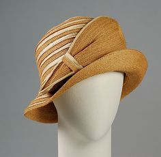Cloche Gage Brothers & Company  Date: ca. 1922 Culture: American Medium: Straw, silk