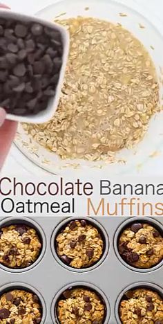 A freezer friendly breakfast or snack option! A freezer friendly breakfast or snack option! Good Healthy Recipes, Healthy Sweets, Healthy Baking, Snack Recipes, Flour Recipes, Healthy Desserts With Bananas, High Protein Snacks On The Go, Healthy Office Snacks, Heathy Treats