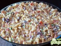 Salad with minced meat - baciary - Makaron Polish Recipes, Polish Food, Salad Recipes, Macaroni And Cheese, Food And Drink, Rice, Meat, Vegetables, Cooking