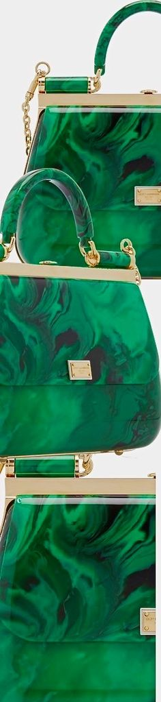 Shop the latest women's fashion straight from the runway at Moda Operandi, from designers including Isabel Marant, Oscar de la Renta, Johanna Ortiz, Prada & more. Emerald Color, Emerald Green, Green And Gold, Color Shades, Shades Of Green, Tiffany Green, Forever Green, Green Palette, String Bag