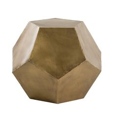 Modern Side Table upholstered in yellow iron with pentagonal antique brass side table is a perfect example of the geometric trend Brass Side Table, Modern Side Table, Tree Furniture, Modern Furniture, Gold Furniture, Pendant Light Fixtures, Decoration, End Tables, Antique Brass