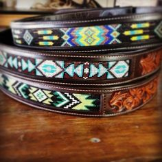 Custom beaded belts leather by TCS Americas and beads by Twisted Spur Beadwork & Leather. Don't forget to follow us on Facebook, Pinterest, and Instagram!