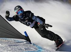 Germany's Isabella Laboeck competes in the women's parallel slalom qualifications at the FIS Snowboard World Championships in Stoneham, Quebec  Picture: REUTERS/Mathieu Belanger
