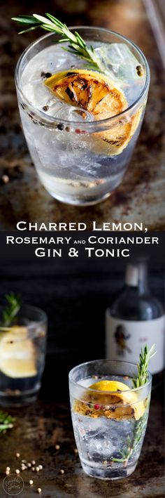 This Charred Lemon, Rosemary and Coriander Gin & Tonic is something special! The flavours are so perfectly balanced and it makes a very beautiful start to the evening/afternoon. Well to any occasion!!(Pour)
