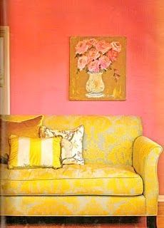 Amazing couch and color combination!