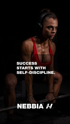 """""""Succes starts with self-discipline."""" Don't give up #fitnessmotivation #nebbiafitness #nebbiawear #gymwear #activewear Mental Health Resources, Self Discipline, Fitness Motivation Quotes, Gym Wear, Fun Workouts, Motivational Quotes, Activewear, Closet, Gymnastics Clothes"""