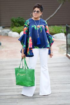 Rock The Bells! McCalls 7542 & Extreme Bell Bottoms — My Daily Threadz African Blouses, African Lace Dresses, African Fashion Dresses, Simple Dresses, Elegant Dresses, Samoan Dress, Stylish Outfits, Fashion Outfits, Kente Styles