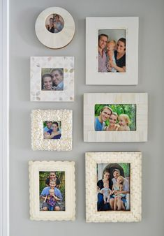 Anniversary photo wall
