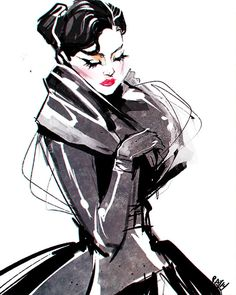 Find images and videos about fashion, art and illustration on We Heart It - the app to get lost in what you love. Illustration Mode, Fashion Illustration Sketches, Fashion Sketches, Mode Collage, Tinta China, Fashion Art, Fashion Design, Beauty Art, Art World