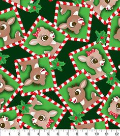 Holiday Inspirations Fabric- Christmas Rudolph