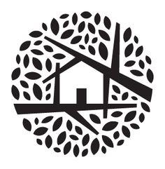 24 New Ideas House Illustration Design Trees Typography Logo, Graphic Design Typography, Design Visual, Web Design, Logo Design, Icon Design, Logo Sketch, Logo Luxury, Creative Logo