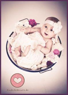 Ideal für Kinderfotografie/Babyfotografie/Neugeborene    Ein romantisches Haarband für Babys im Alter von 0 - 24 Monate     Ist sehr weich und leicht