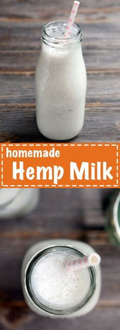 This homemade help milk is the easiest dairy-free milk I've ever made! You'll never buy it from the store again. Recipe on MyHeartBeets.com