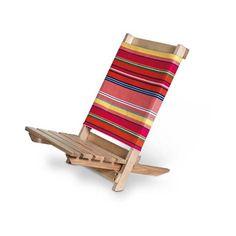 Silla de Playa de madera via Polyvore