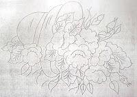 Pintura em tecido ,Pintura em tela, Riscos e desenhos para pintar e artesanatos: RISCOS FLORES 3