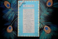 Handmade wedding invitations & painting by my grandmother. <3