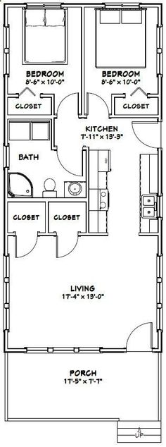 Shed Plans - 18x40 Tiny House -- #18X40H4G-- 720 sq ft - Excellent Floor Plans - Now You Can Build ANY Shed In A Weekend Even If You've Zero Woodworking Experience! #shedbuildingplans
