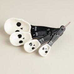 Skull Ceramic Measuring Spoons - World Market