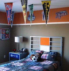 Sports Bedroom Idea For How To Paint Orange Walls