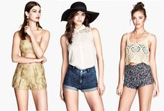 Post Consiglio: Shorts vita alta H&M per l'estate 2014. I primi da sinistra li adoro. Color oro, donano un tocco eccentrico anche al look più semplice. #shorts #HM #PostConsiglio #fashionblogger