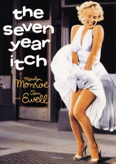 Marilyn Monroe movie poster for the film The Seven Year Itch, starring Tom Ewell . Marilyn Monroe Fotos, Marilyn Monroe Movies, Divas, 7 Year Itch, Pin Up, Film Watch, Iconic Photos, Norma Jeane, Under The Stars