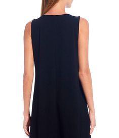 Viscose Knit Jersey V-Neck Midi Flare Dress #Sponsored #Jersey, #Sponsored, #Knit, #Viscose Midi Flare Dress, Korean Fashion Casual, Eileen Fisher, Dillards, Dresser, V Neck, Knitting, Clothes, Shopping