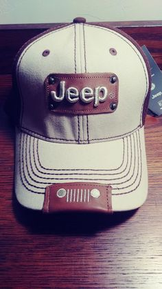 Jeep Logo Ball Cap Hat - Brown OSFA NEW WITH TAGS  fashion  clothing 2d6c491f326d