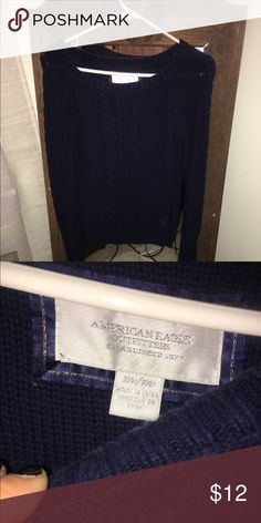 AE Sweater! Navy blue sweater, size medium. No imperfections. American Eagle Outfitters Sweaters