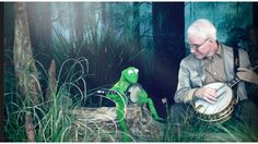 Kermit and Steve Martin Rocking Out