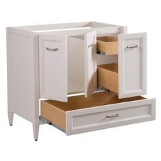 Home Decorators Collection Claxby 36 in. W Vanity Cabinet Only in Cream - SRSD3621-CR - The Home Depot