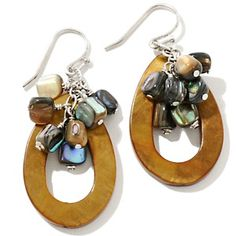 Sonoma Studios Mother-of-Pearl and Abalone Drop Sterling Silver Earrings at HSN.com.