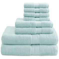 Madison Park Signature Solid 8-Pc. Towel Set (7.710 RUB) ❤ liked on Polyvore featuring home, bed & bath, bath, bath towels, seafoam, seafoam bath towels, jacquard bath towels, madison park and cotton bath towels