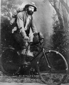 Cycling goldminer back from a 1000 mile trip in the Western Australian bush