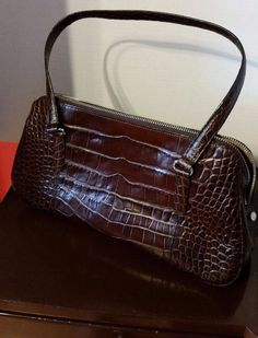MONSAC LEATHER STRUCTURED PURSE, BROWN | Clothing, Shoes & Accessories, Women's Handbags & Bags, Handbags & Purses | eBay!