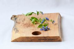 Cottage Cutting Board, Natural Edge Salvaged Maple by RedOnionWoodworks