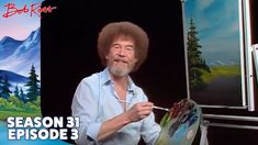 Join Bob Ross for a stroll down yonder by the river, relax in the serenity of an expansive yet quiet sky with proud evergreens looking on. Season 31 of The J. Bob Ross Painting Videos, Bob Ross Paintings, Oil Paintings, Stacked Bob Hairstyles, Medium Bob Hairstyles, Bob Ross Youtube, Robert Ross, Bob Ross Art, Best Bobs