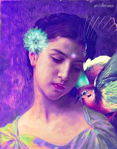 … There is some kind of a Sweet Innocence in being human- in not having to be just happy or just sad- in the nature of being able to be both broken and whole, at the same time…      C.JoyBell C.  Art © Ellen Vaman (Inspired by Bouguereau) www.facebook.com/ellen.vaman1 #EllenVaman #VisionaryArt #Bouguereau #JoyBellC. #Spiritual #Bird #Free #Love #Light #Consciousness #Goddess #Motivational 1992.4