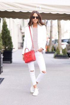 How to Wear White Denim