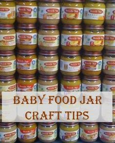 Baby Food Jar Craft Tips – Some baby food jar crafts are excellent for beginners and demand little preparation and creative skills. You can even come … – Organics® Baby food Baby Jars, Baby Food Jars, Food Baby, Baby Food Jar Crafts, Mason Jar Crafts, Mason Jars, Home Crafts, Crafts To Make, Recycle Crafts