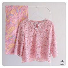 simple modern long sleeve lace top, kebaya brokat http://www.eiwaonline.com
