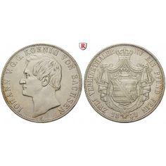 Sachsen, Königreich Sachsen, Johann, Vereinsdoppeltaler 1859, ss+: Johann 1854-1873. Vereinsdoppeltaler 1859 F. AKS 126; sehr schön… #coins
