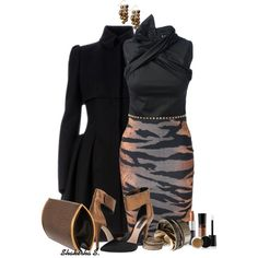 Trimmed in Metal, created by shakerhaallen on Polyvore