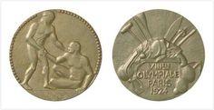 1924 Paris Olympic medal - 2nd place, Silver = 1924 Paris, medalha olímpica - 2º Lugar, Prata