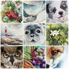 Fav Watercolor Paintings 2016 | See this Instagram photo by @peppermintpatty42 • 145 likes