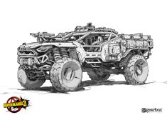 Army Vehicles, Armored Vehicles, Weapon Concept Art, Armor Concept, Arte Robot, Futuristic Cars, Car Drawings, Military Art, Borderlands 3