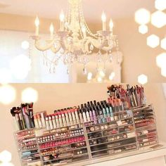 This is makeup organization. I don't think I'll ever own a tenth of this but i love the organizaron