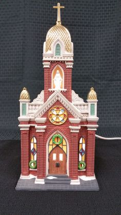 """Department 56 Christmas in the City Series """"Holy Name Church"""" #56.58875"""